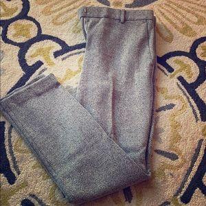 Ann Taylor 8 Tall Herringbone Grey Ankle trousers